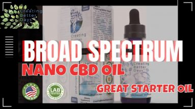 Broad Spectrum Sublingual Oil Tincture, Creating Better Days CBD Oil, stress | CBD Headquarters