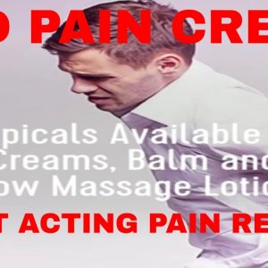 CBD Pain Cream Fast Acting, for Back, Knee, Neck Pains, Natural Topical Remedies | CBD Headquarters