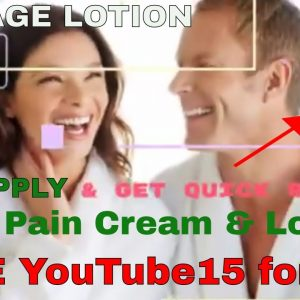 Fast Acting Pain Cream & Lotion, Neck, Back, Knee, Arthritis, Tennis Elbow and inflammation Relief